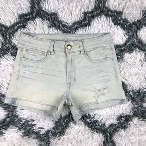 American Eagle High Rise Shortie Shorts Size 8